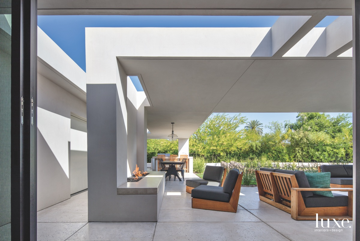 modern covered patio outdoor sitting...