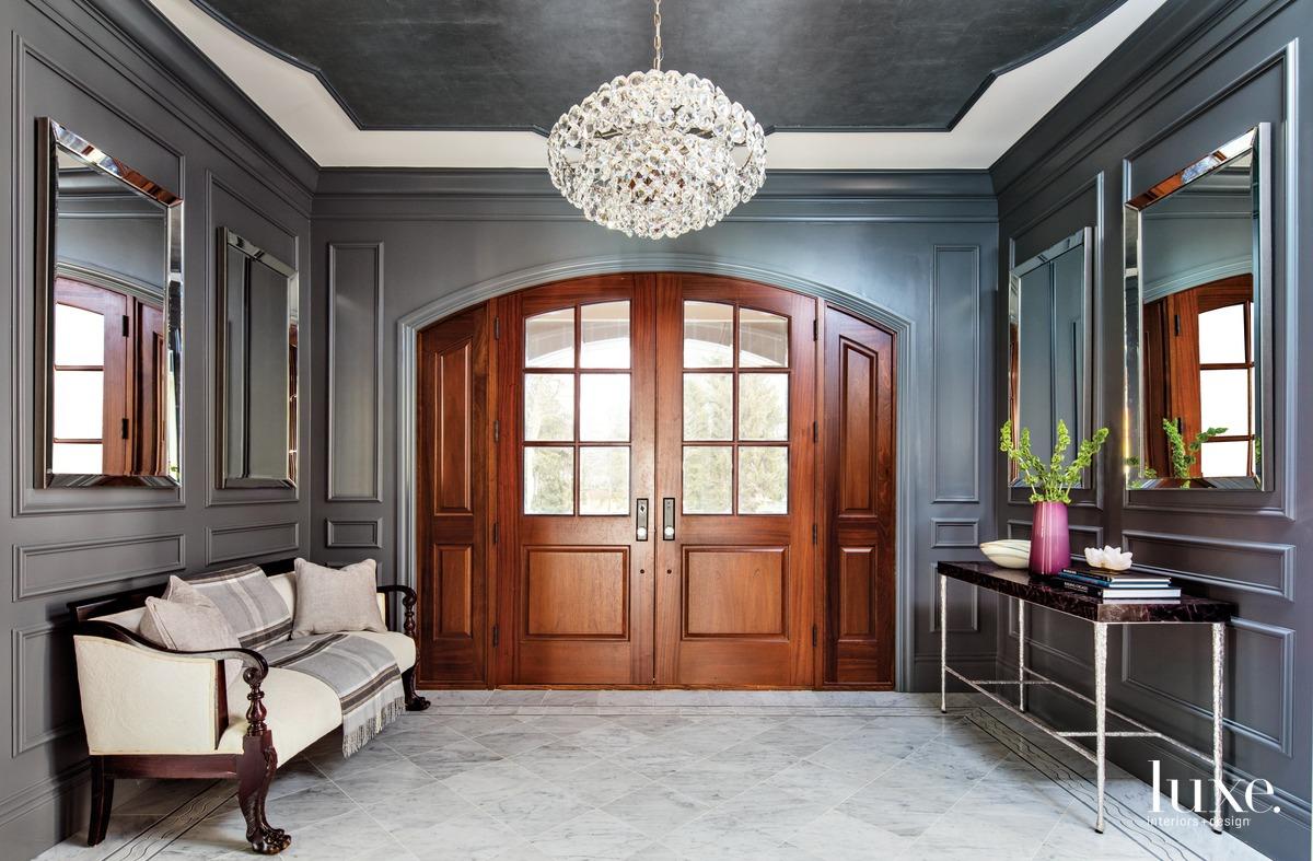traditional foyer mahogany double doors