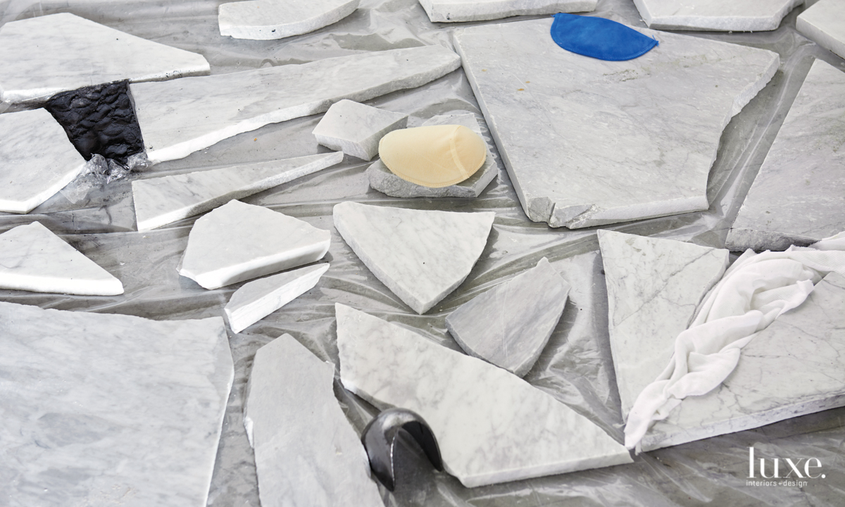 Seiden is currently working on renderings for a 2020 installation of broken marble and shoulder pads in affiliation with Denmark's HEART Herning Museum of Contemporary Art.
