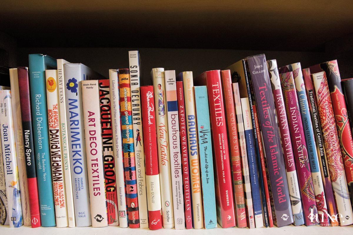 Books about everything from fashion to textiles to color provide inspiration.