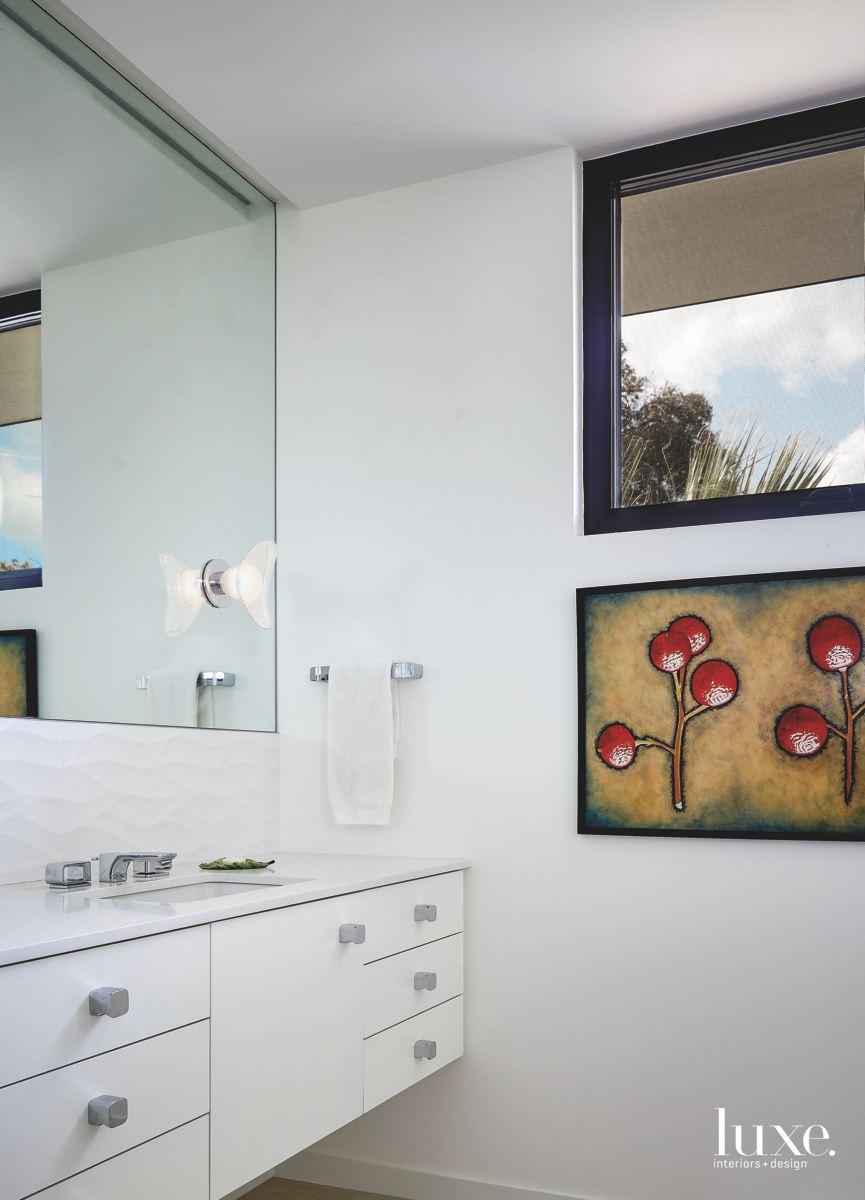 contemporary white bathroom sconces artwork