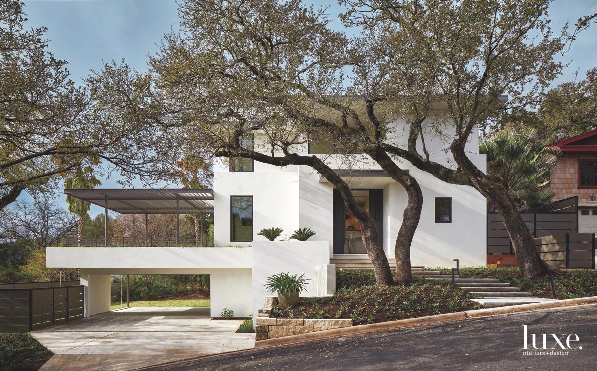 contemporary white exterior