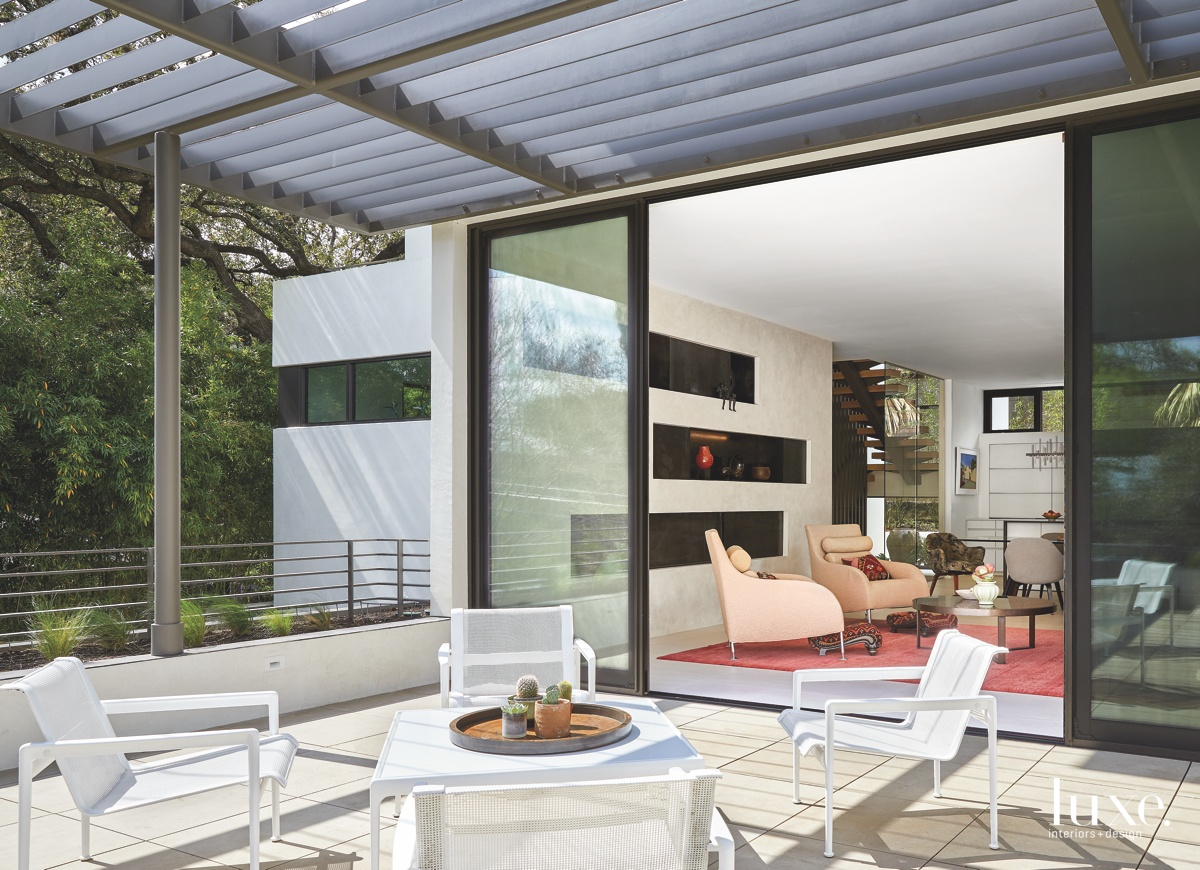 contemporary terrace outdoor sitting area...