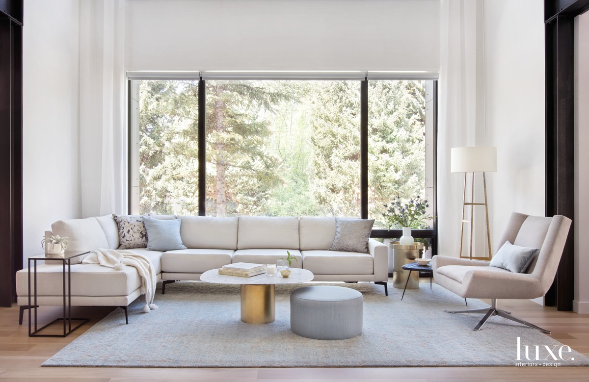 modern neutral living room sectional