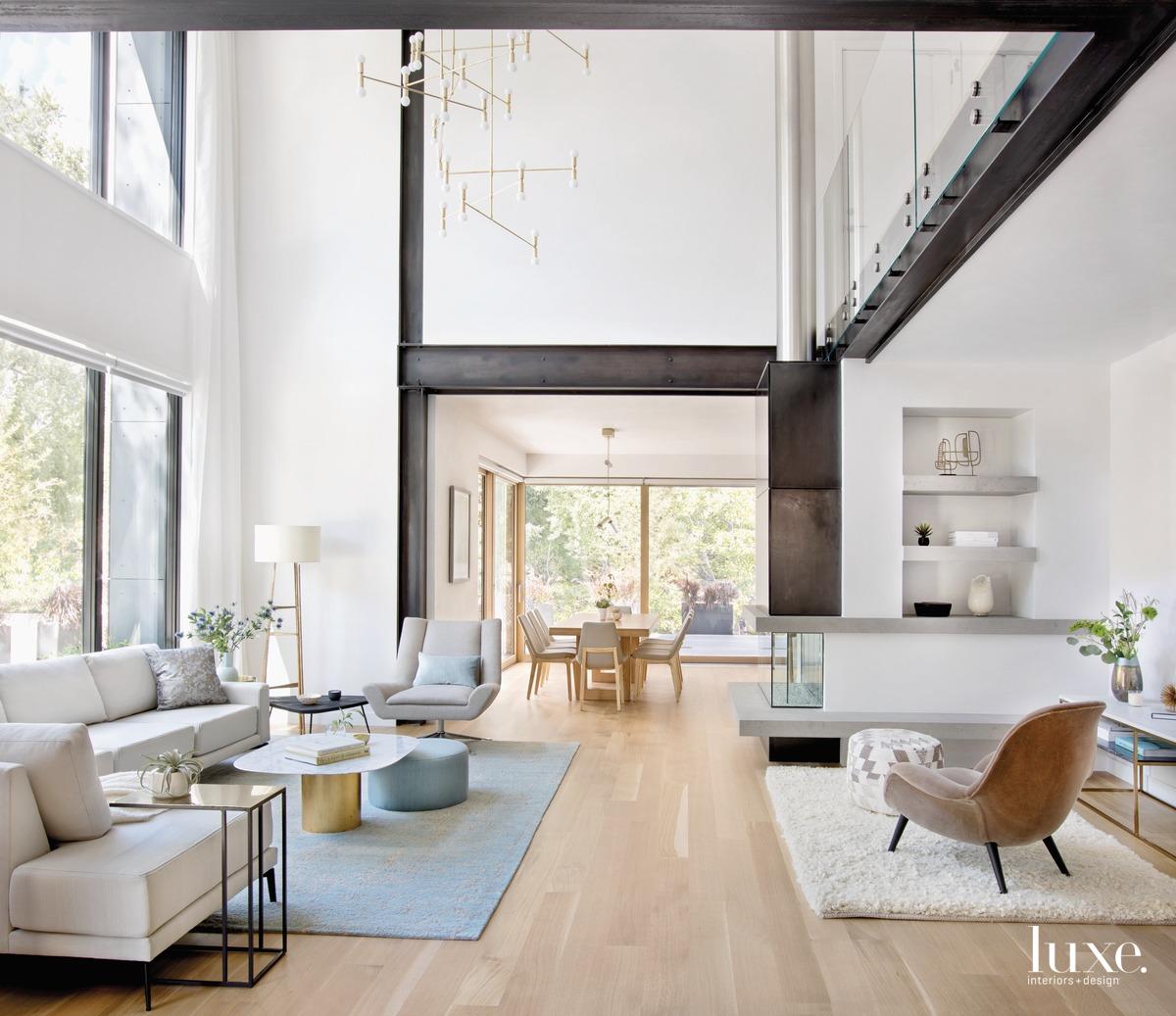modern living room brass chandelier...