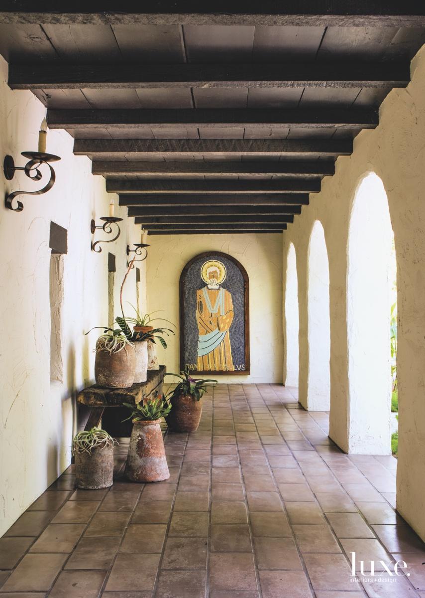 modern outdoor hallway loggia Byzantine...