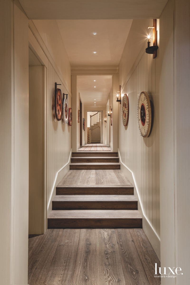 country neutral hallway with stairs...