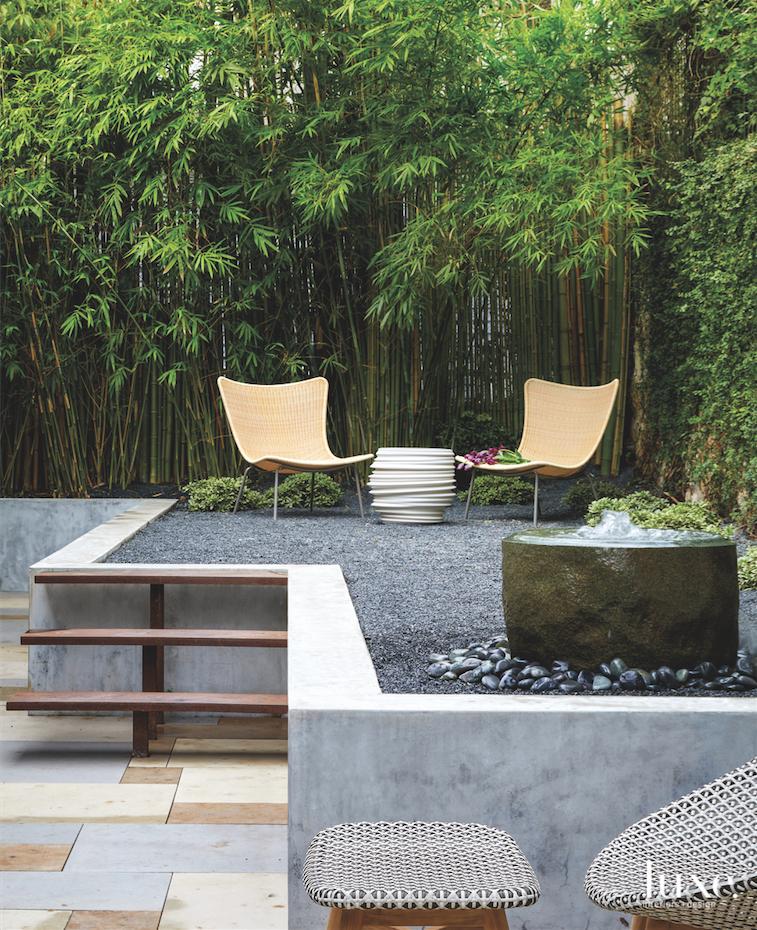 contemporary outdoor sitting area patio...