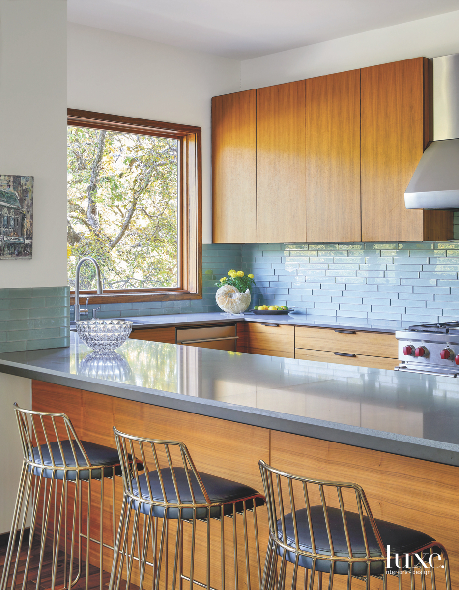 contemporary kitchen barstools quartz countertops...