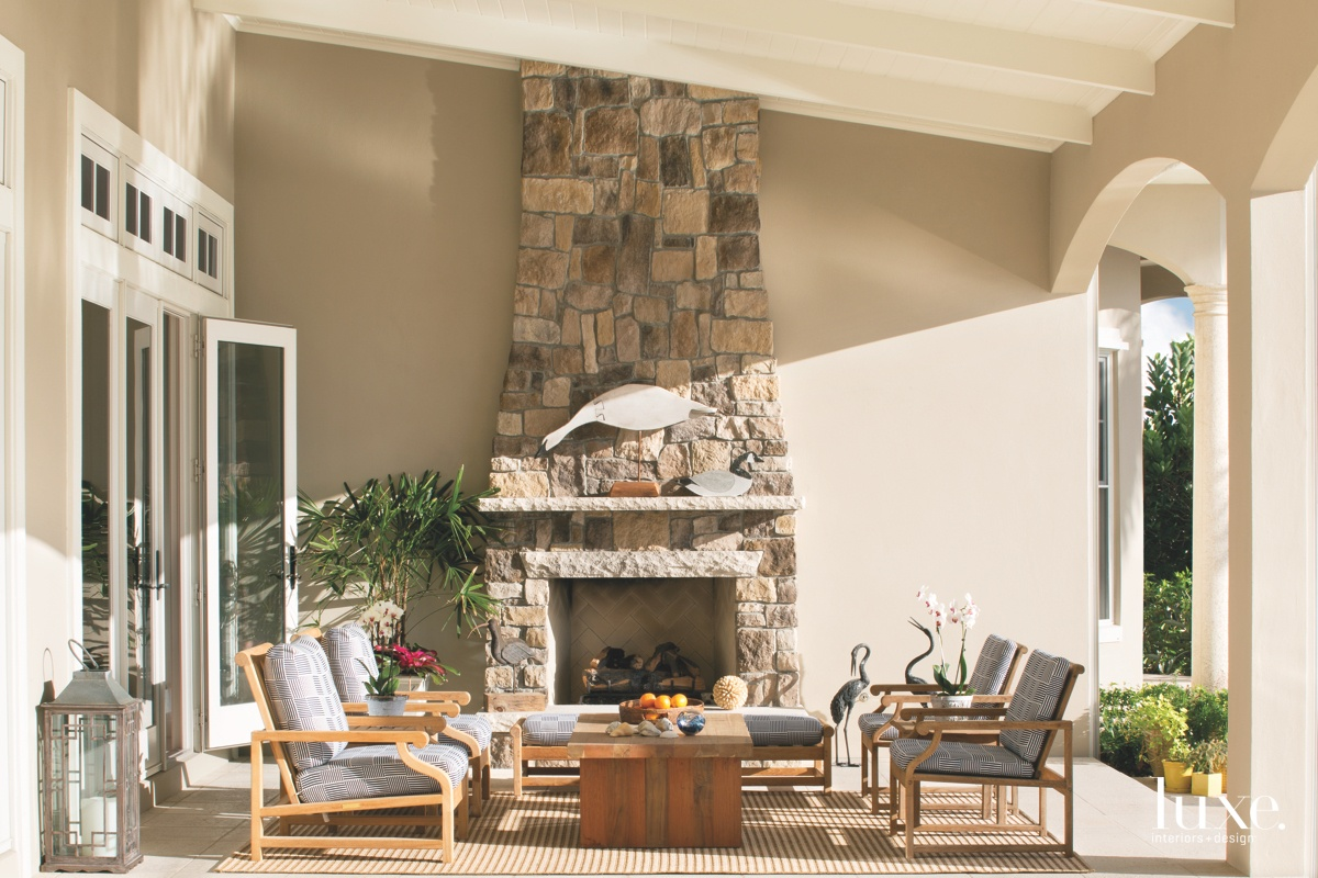 traditional loggia outdoor sitting area...