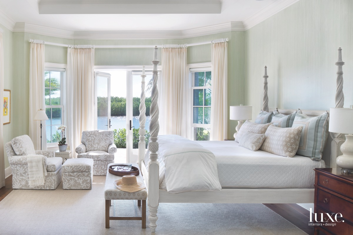 traditional neutral bedroom pale green...