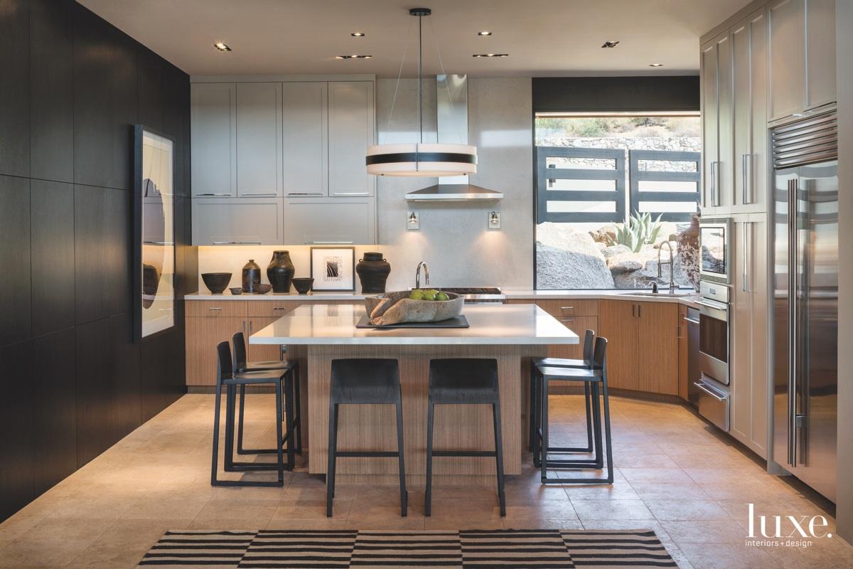 modern kitchen black and neutral