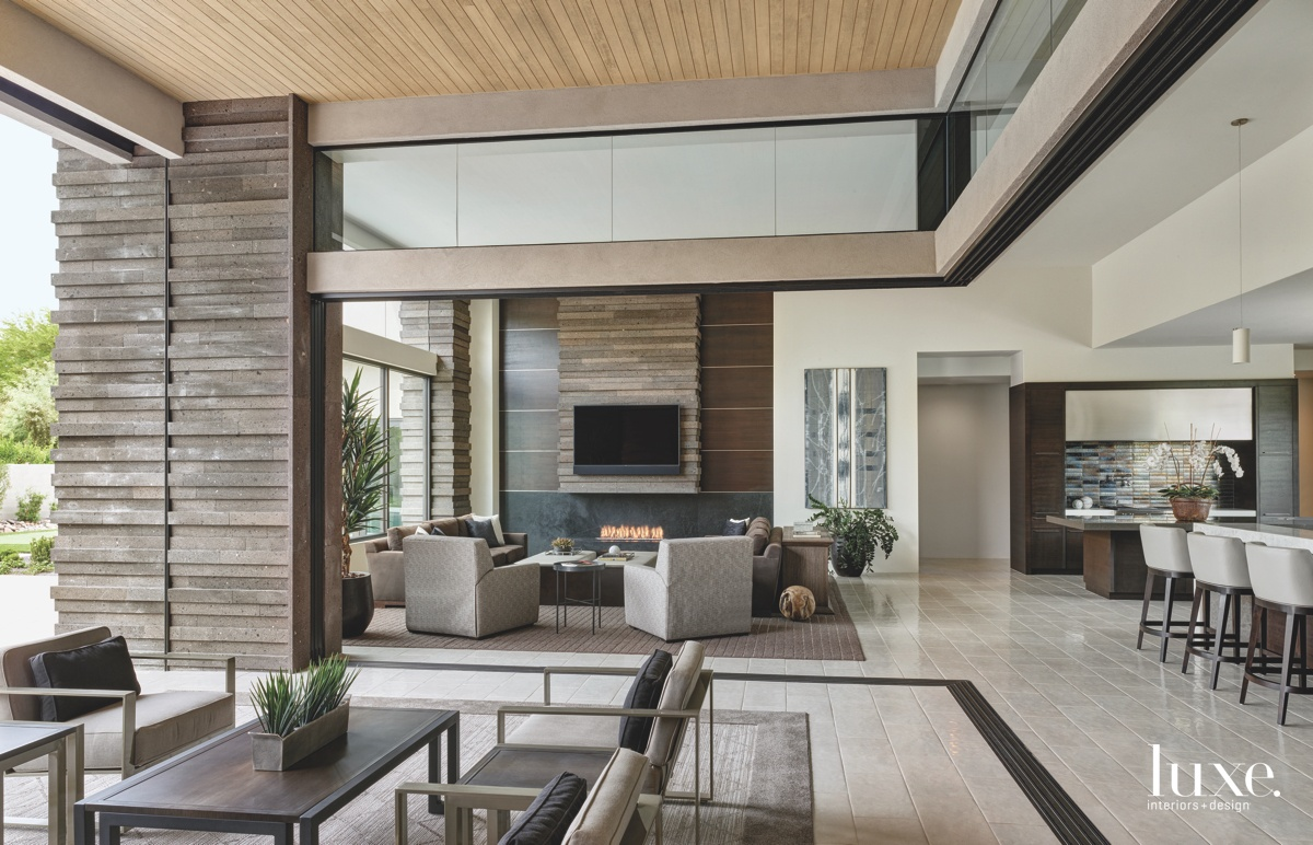 An exterior living room encourages...