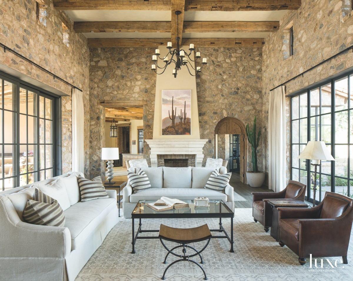 mediterranean living room neutral tones...