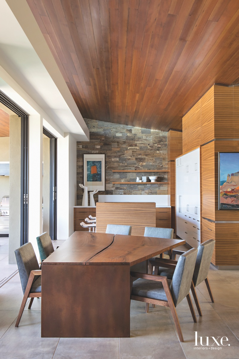modern dining area custom wood...