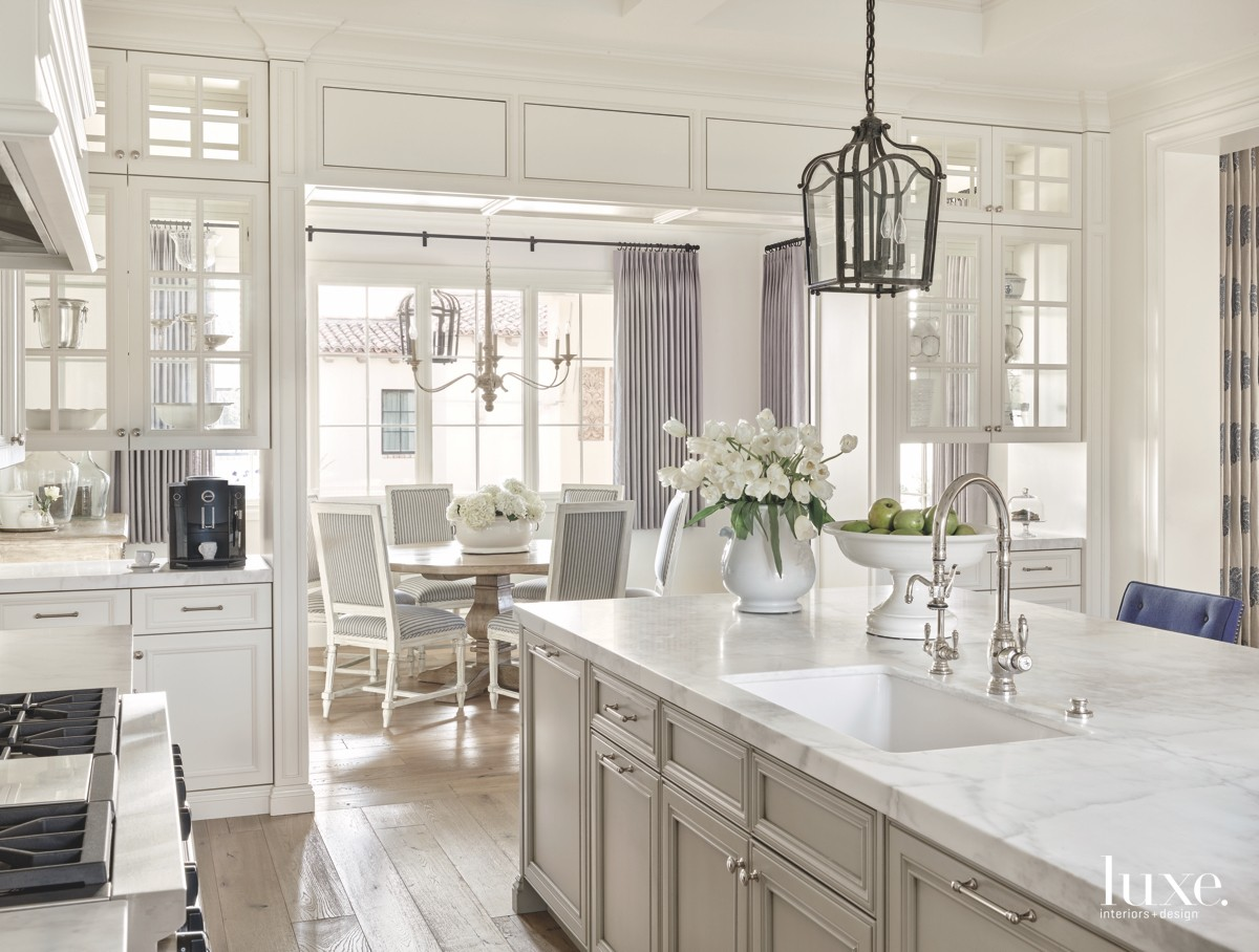 traditional white neutral kitchen marble...