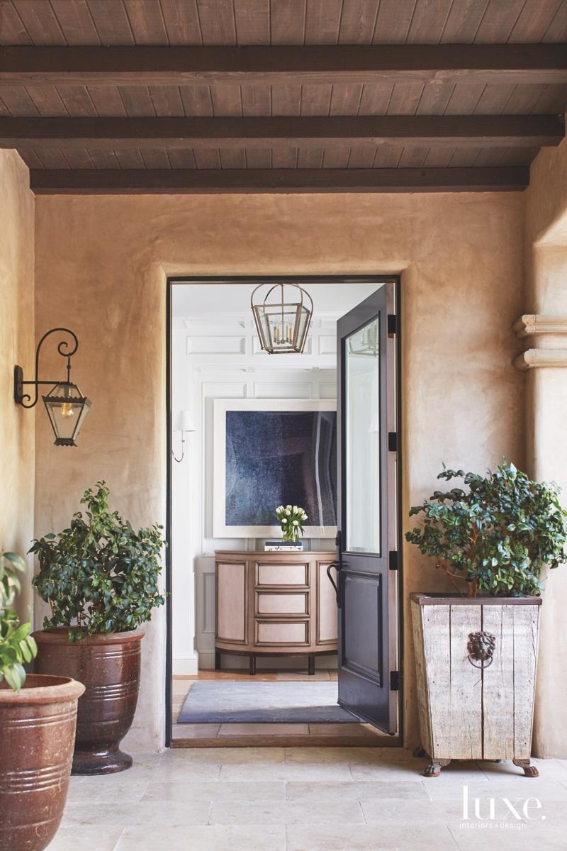 mediterranean exterior entry brown