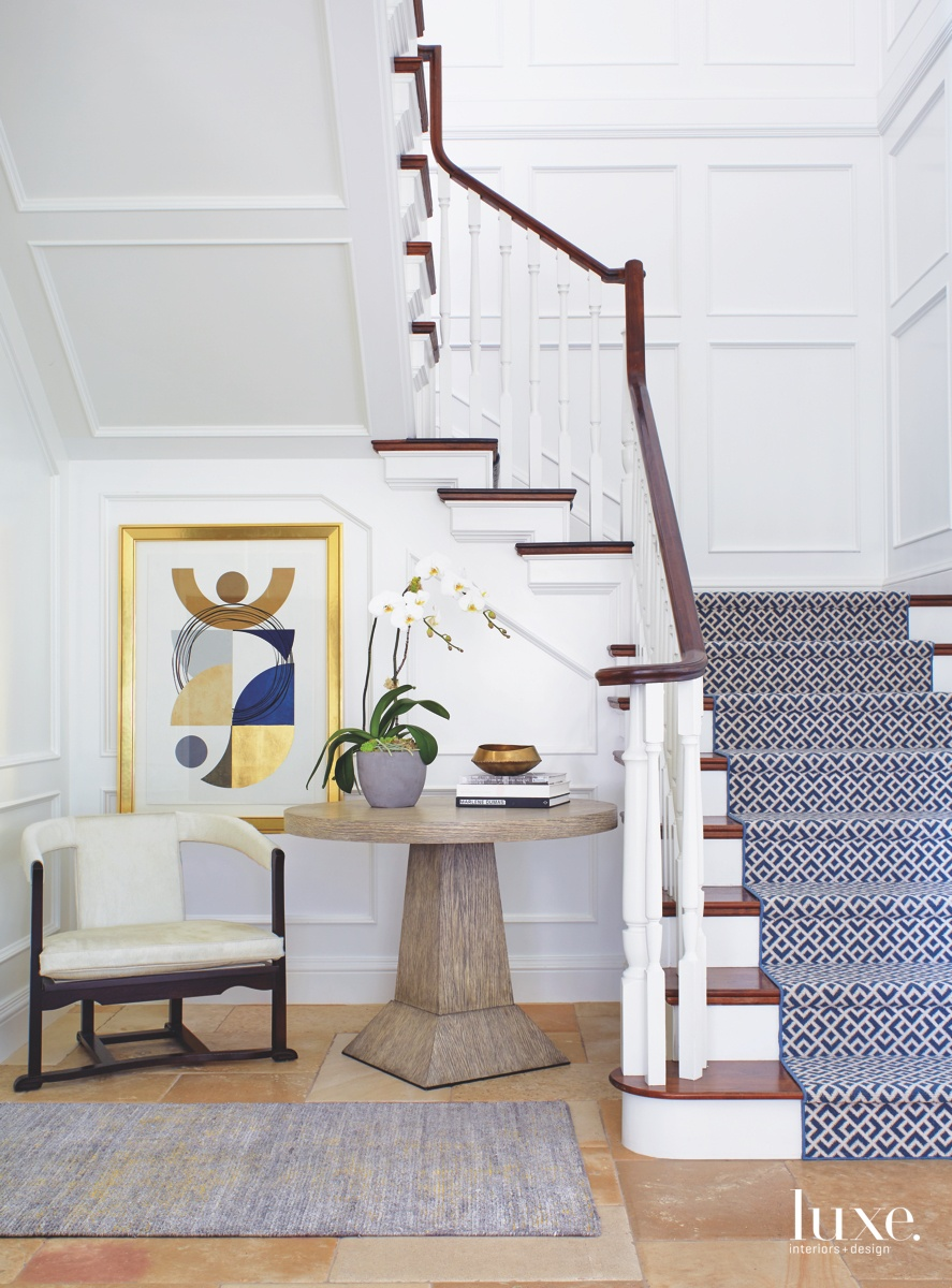 mediterranean patterned staircase rug