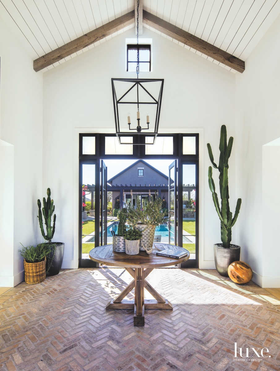 contemporary entryhall glass door cactus
