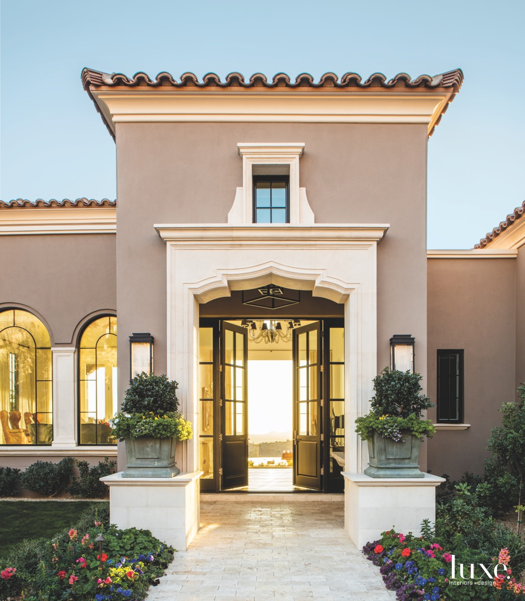 transitional exterior entry