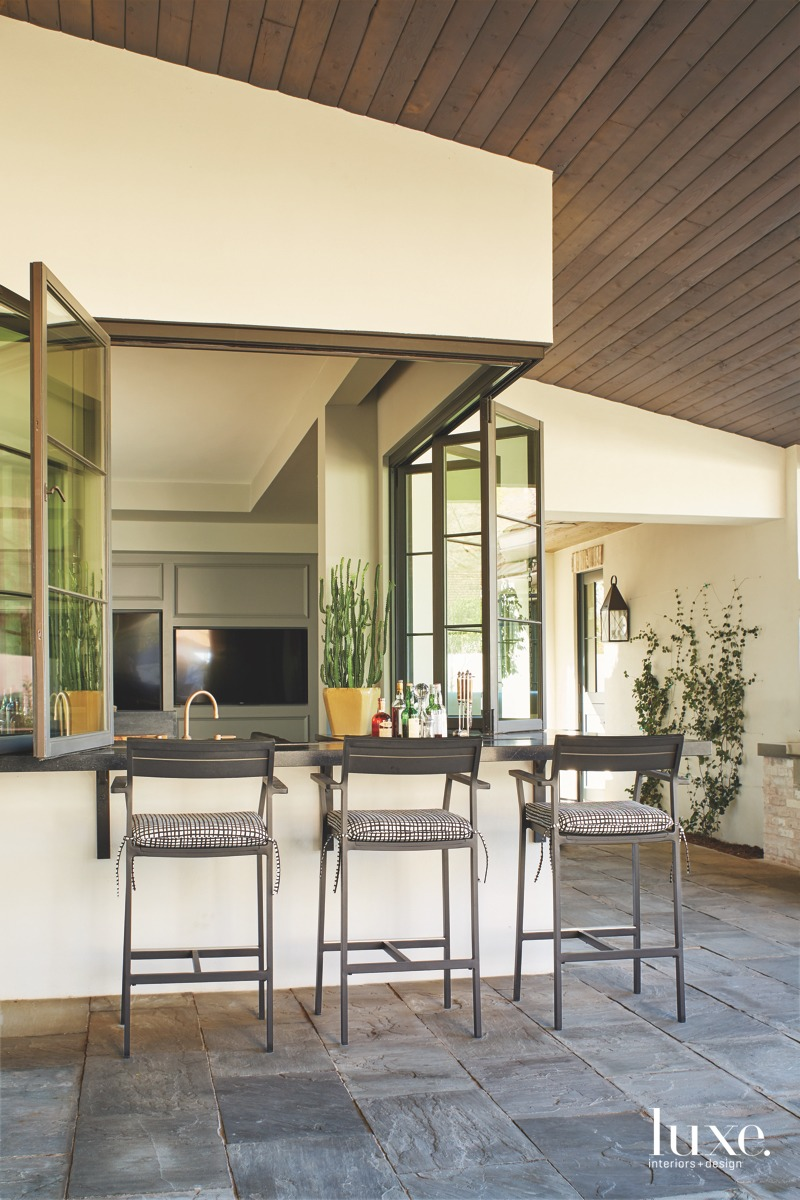contemporary outdoor bar counter stools