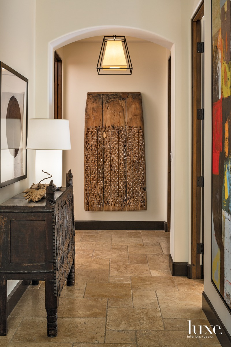 contemporary hallway neutral