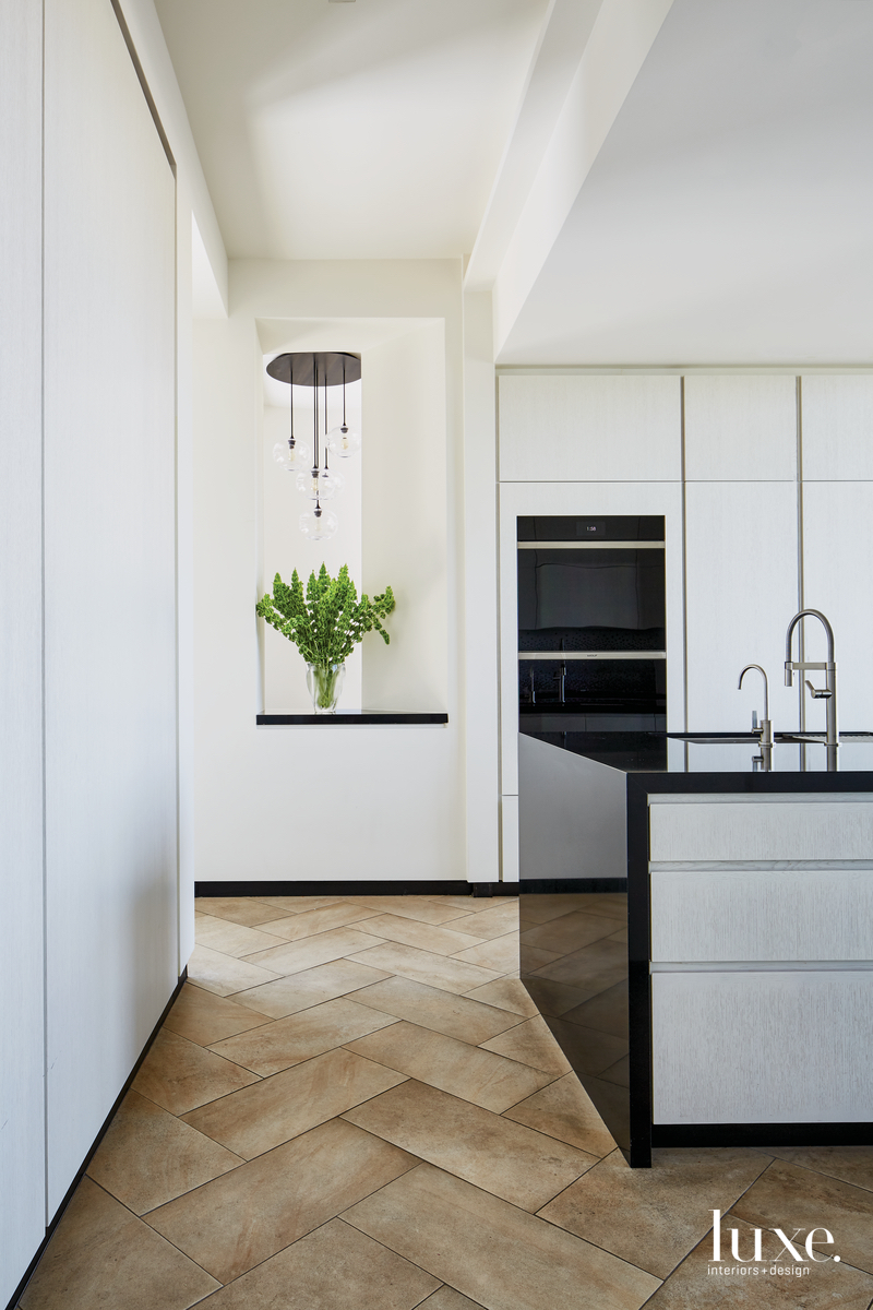mid-century modern hall in kitchen...