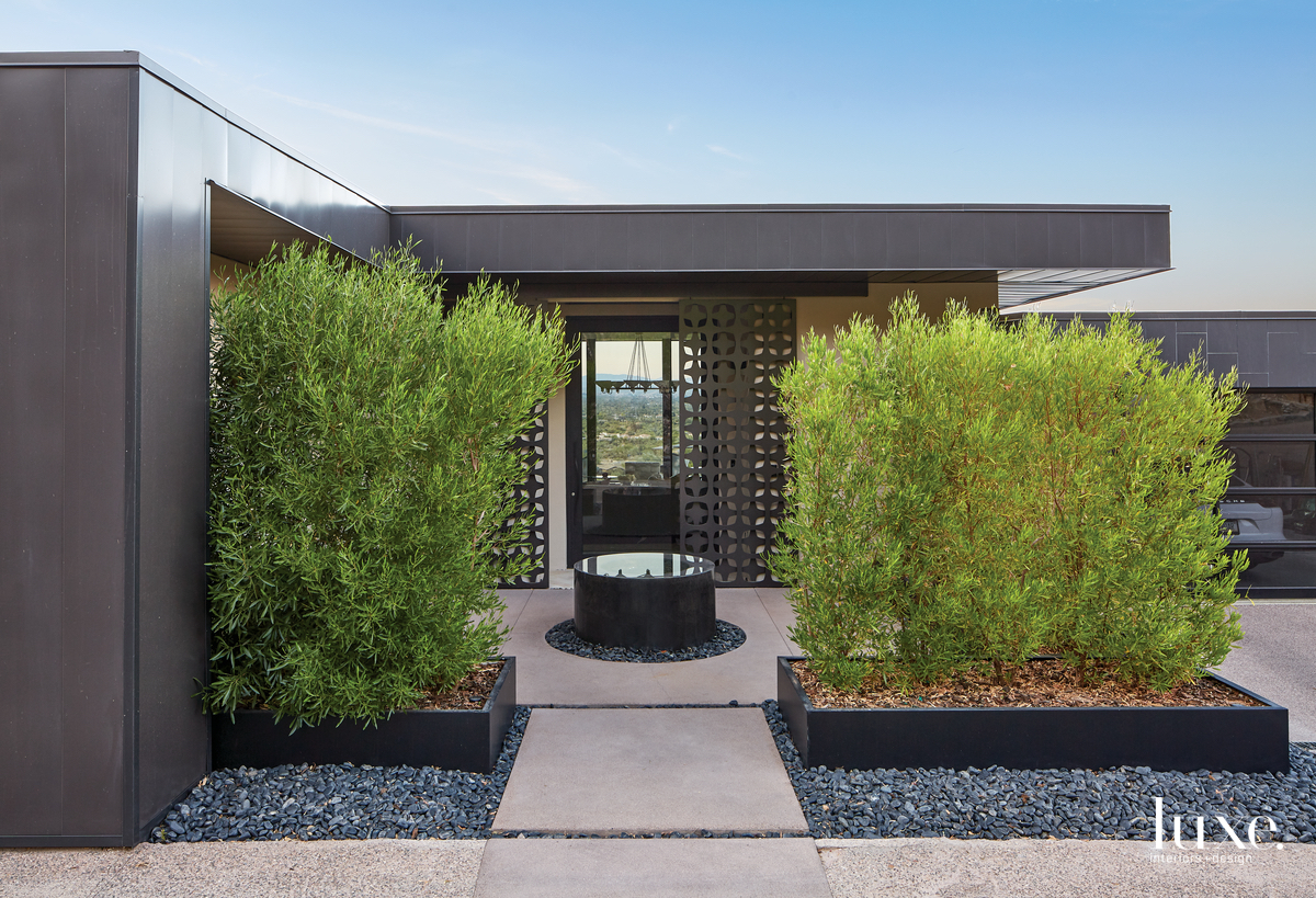 mid-century modern exterior entry