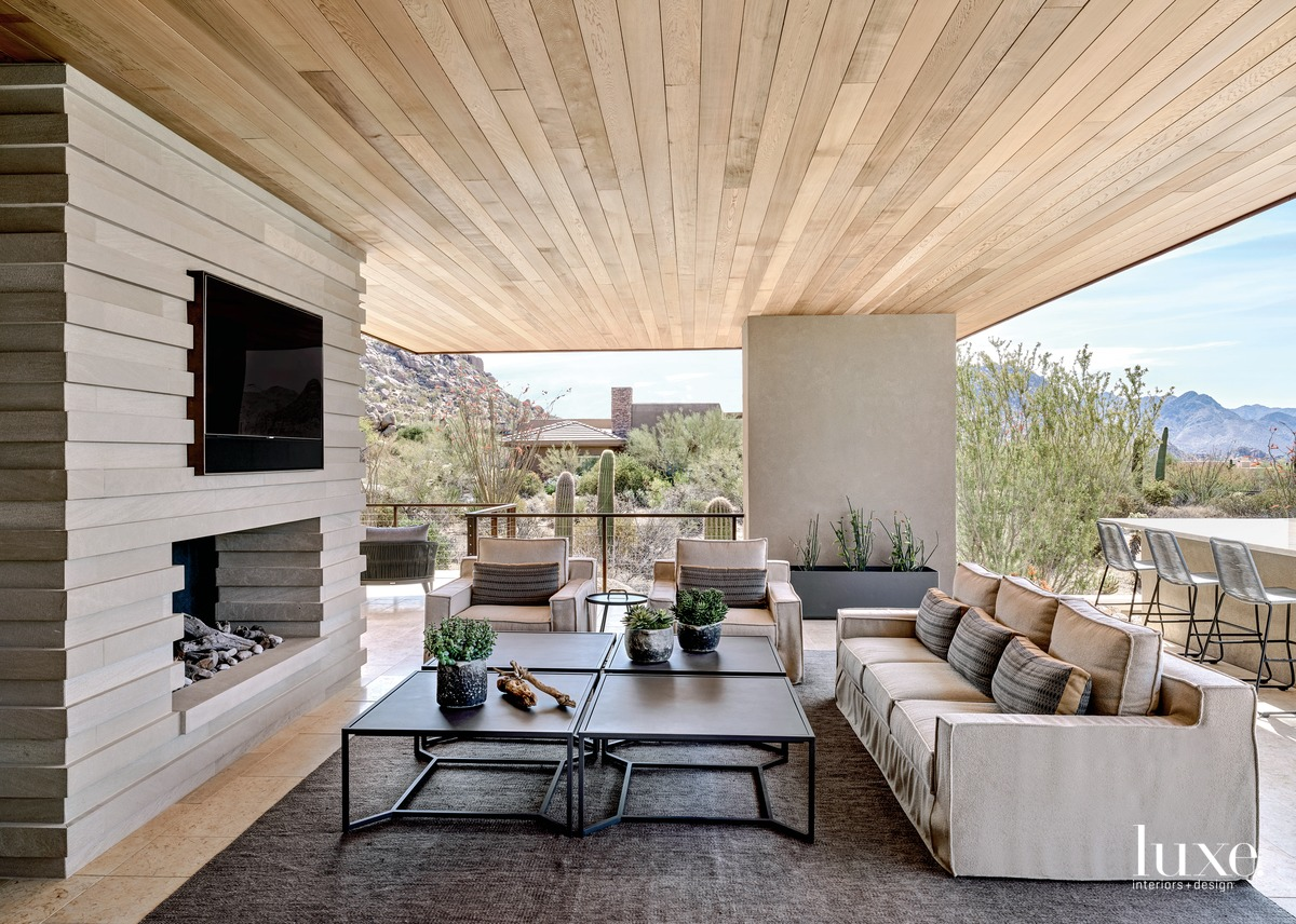 transitional covered outdoor room living...