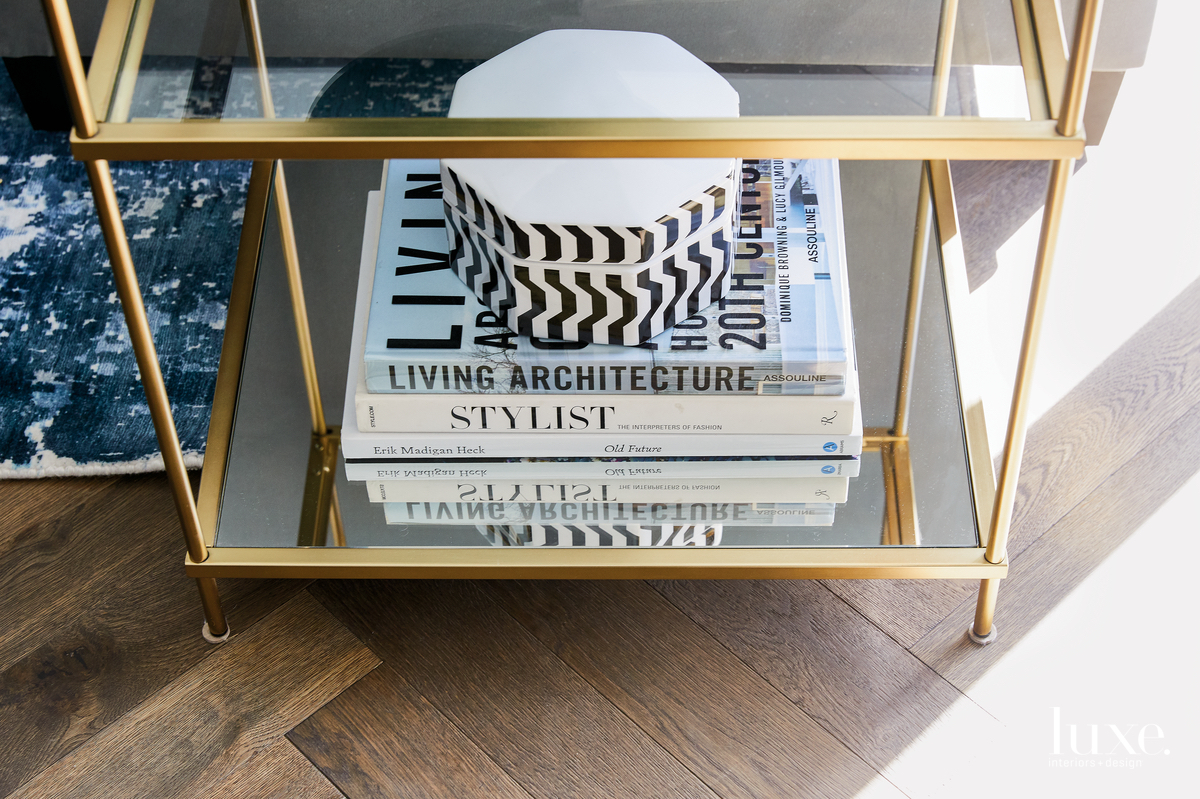 contemporary living room West Elm...