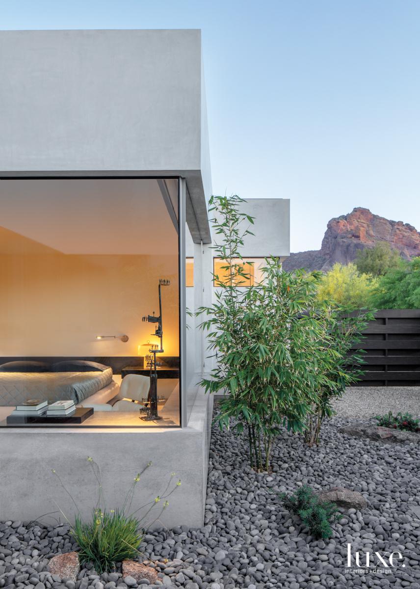 modern exterior concrete walls landscape