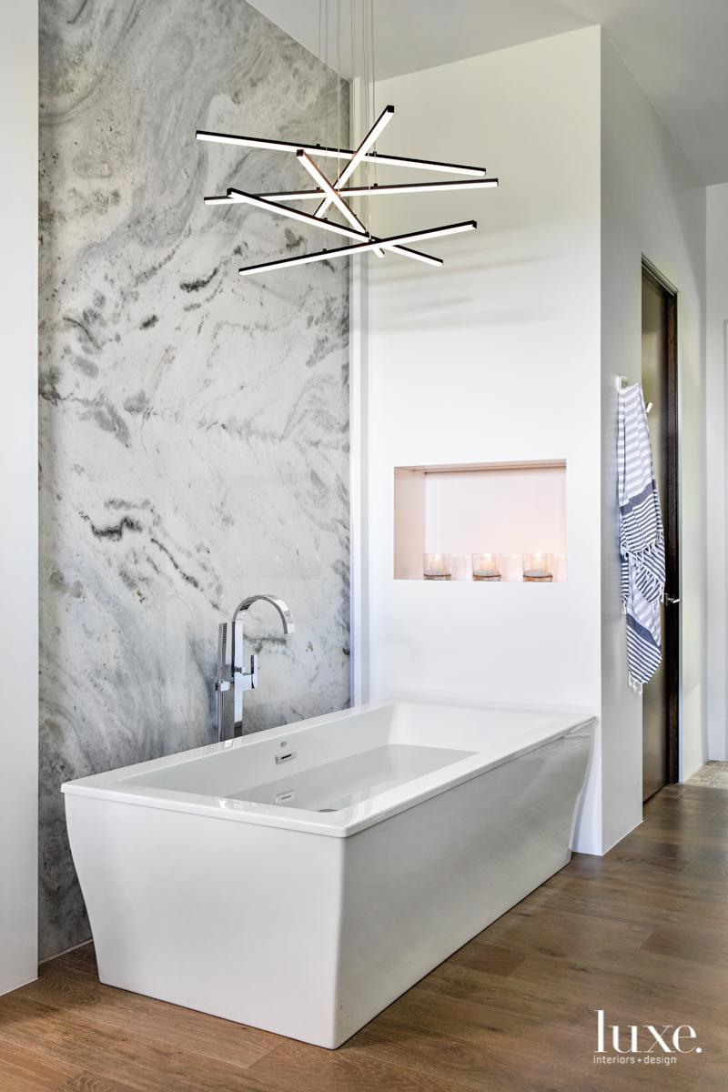 modern bathroom white tub