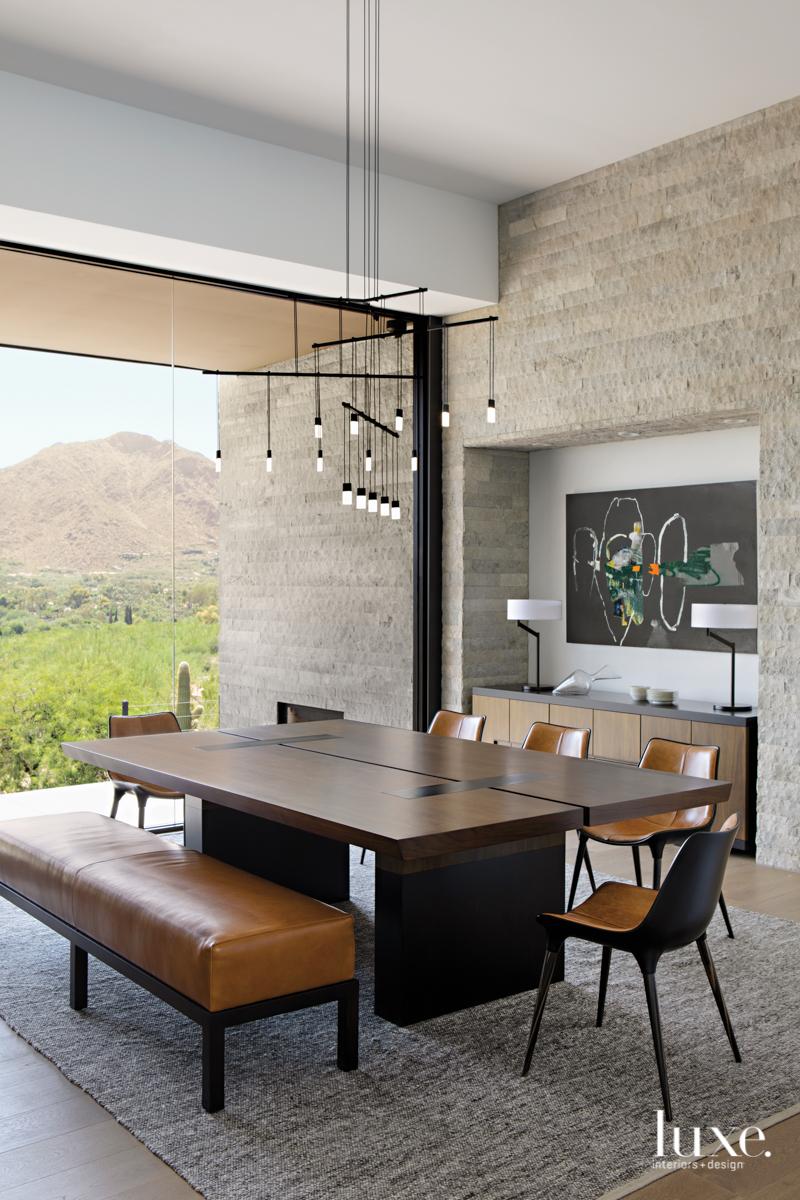modern dining room neutral palette