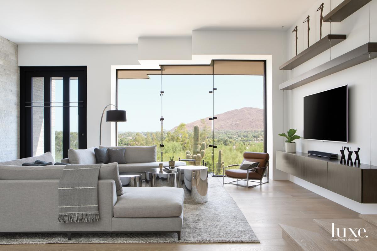 modern living room gray neutral...