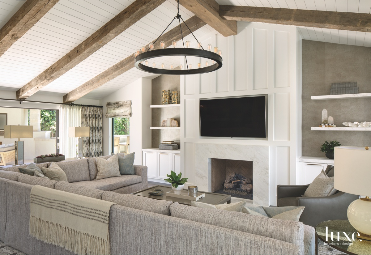 contemporary neutral living room gray...