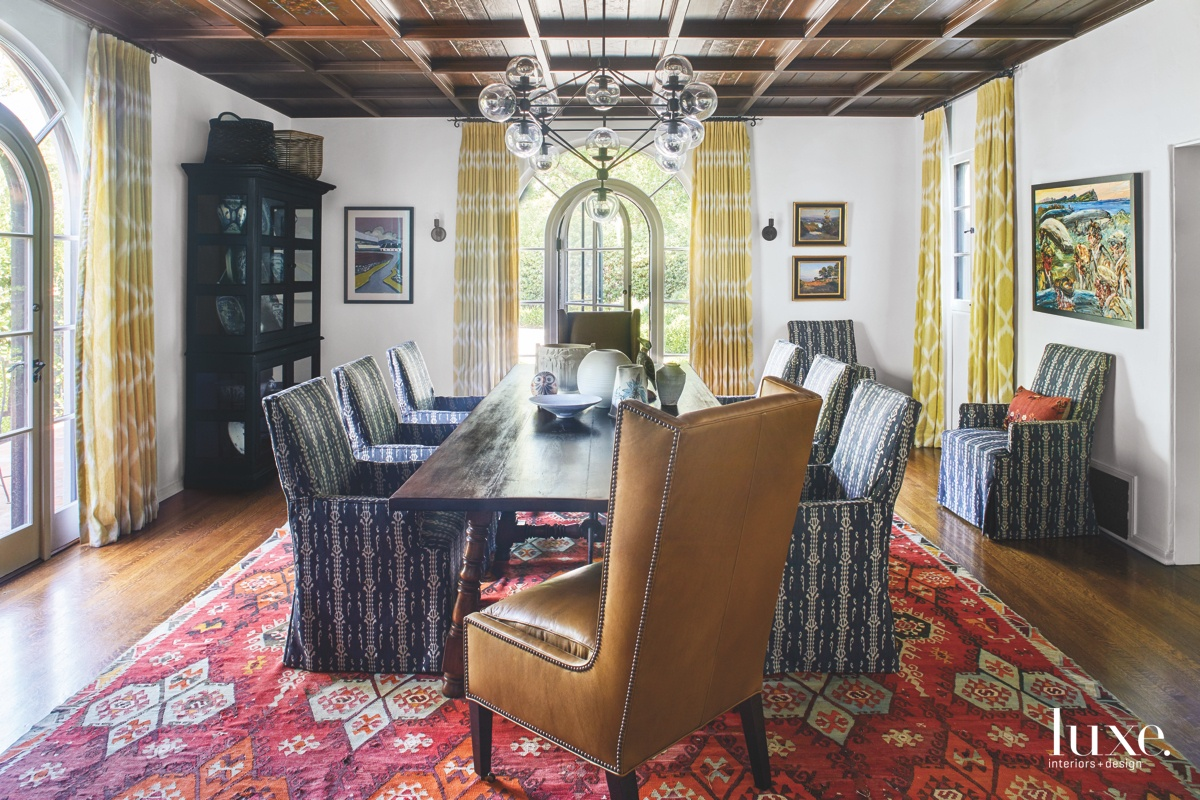 eclectic dining room chandelier vibrant...