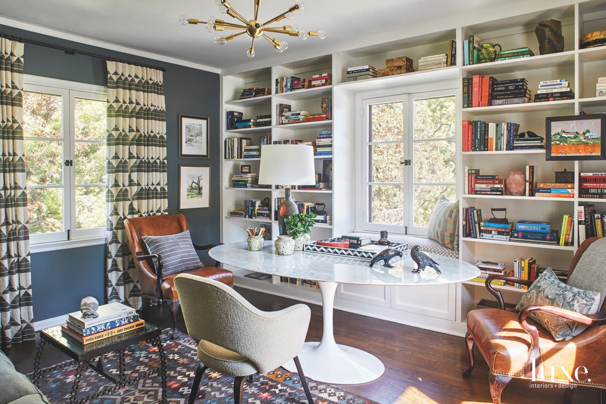 eclectic office multi-colored