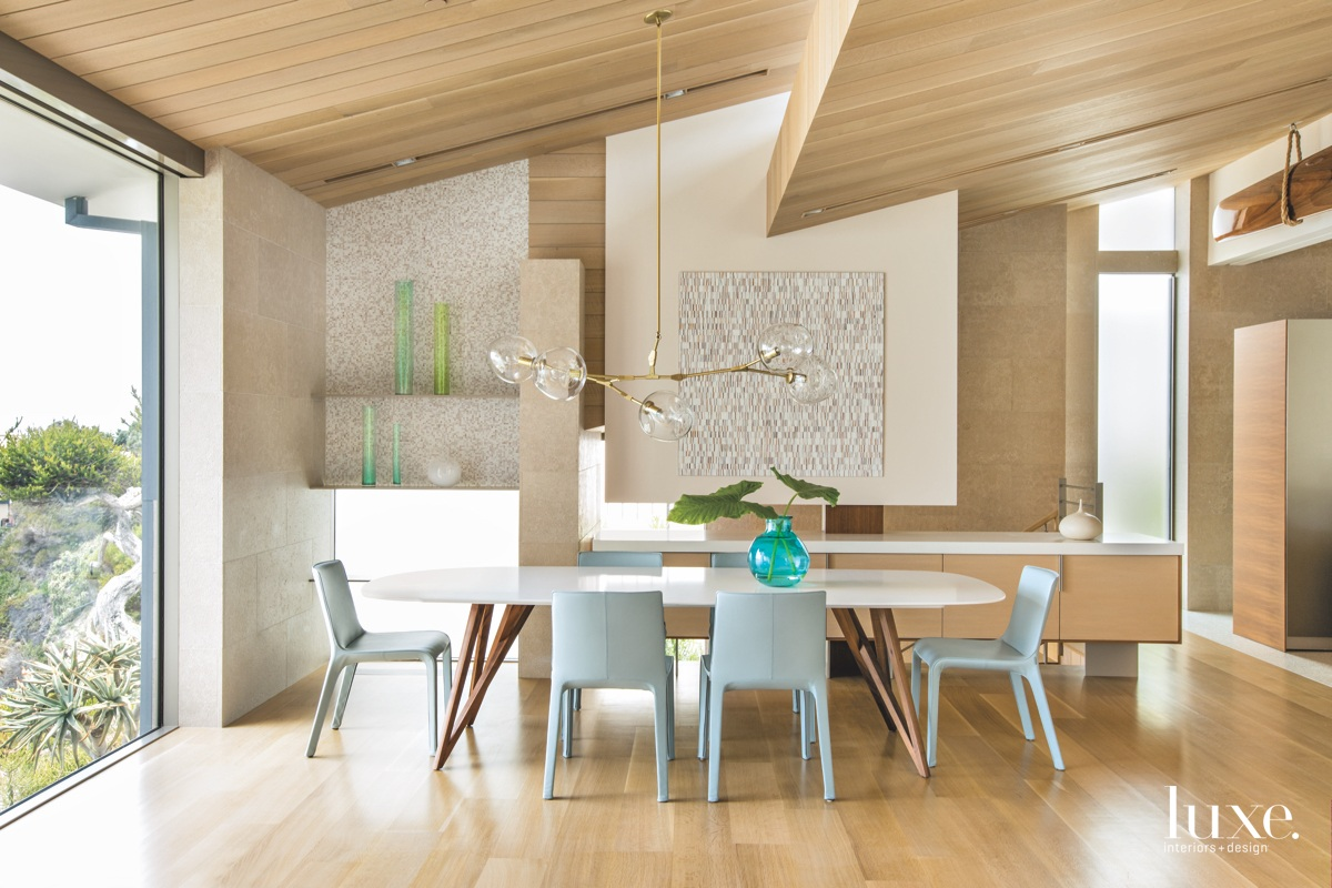 contemporary neutral dining room chandelier