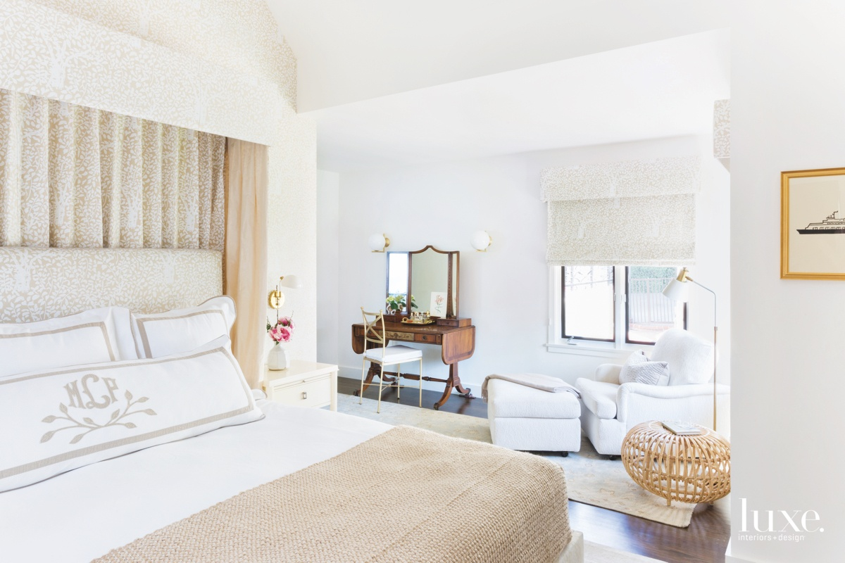 traditional neutral white bedroom