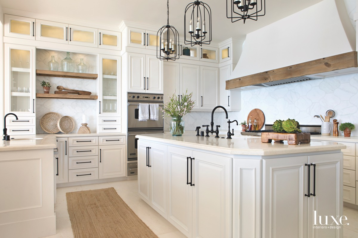 coastal kitchen white and neutral...