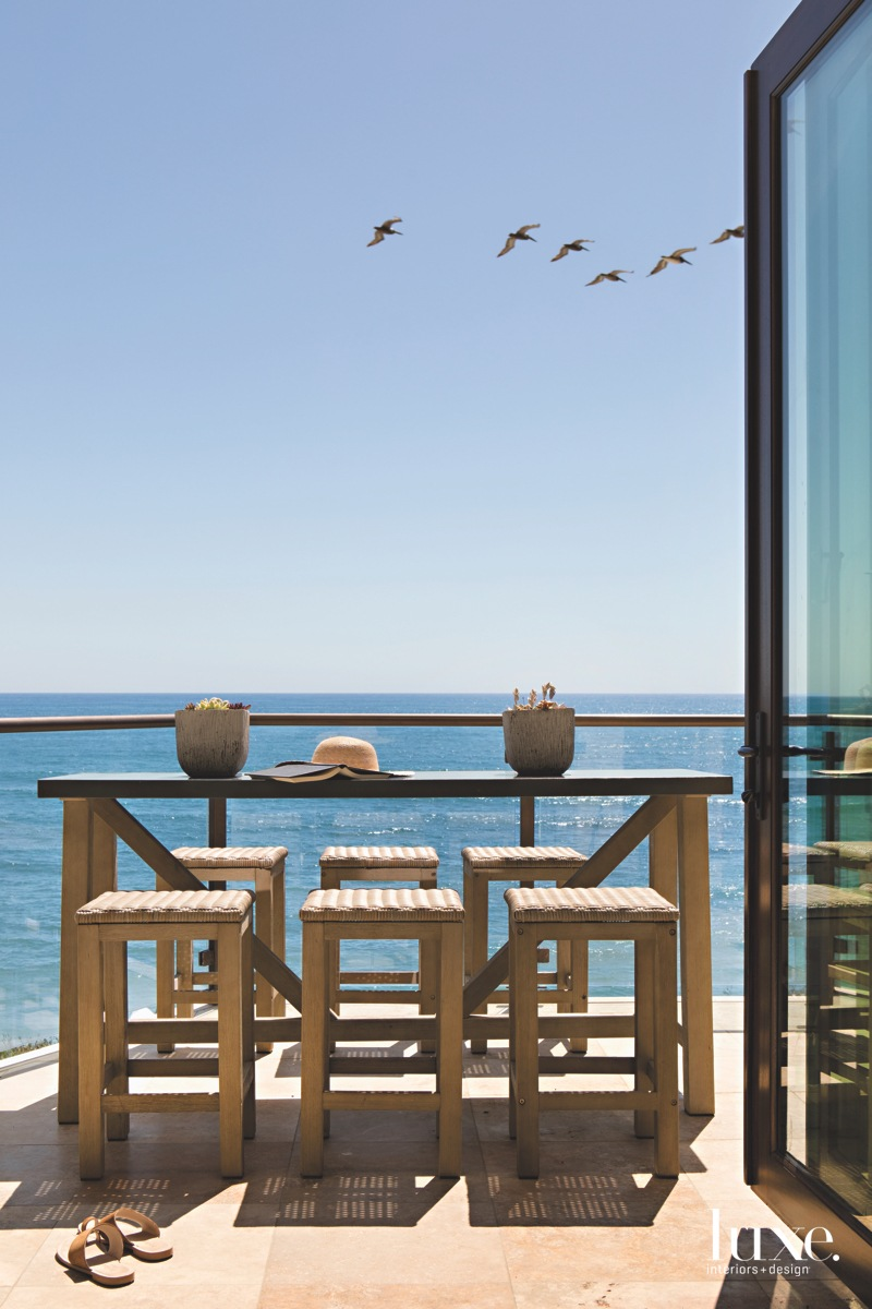 coastal outdoor dining area ocean...