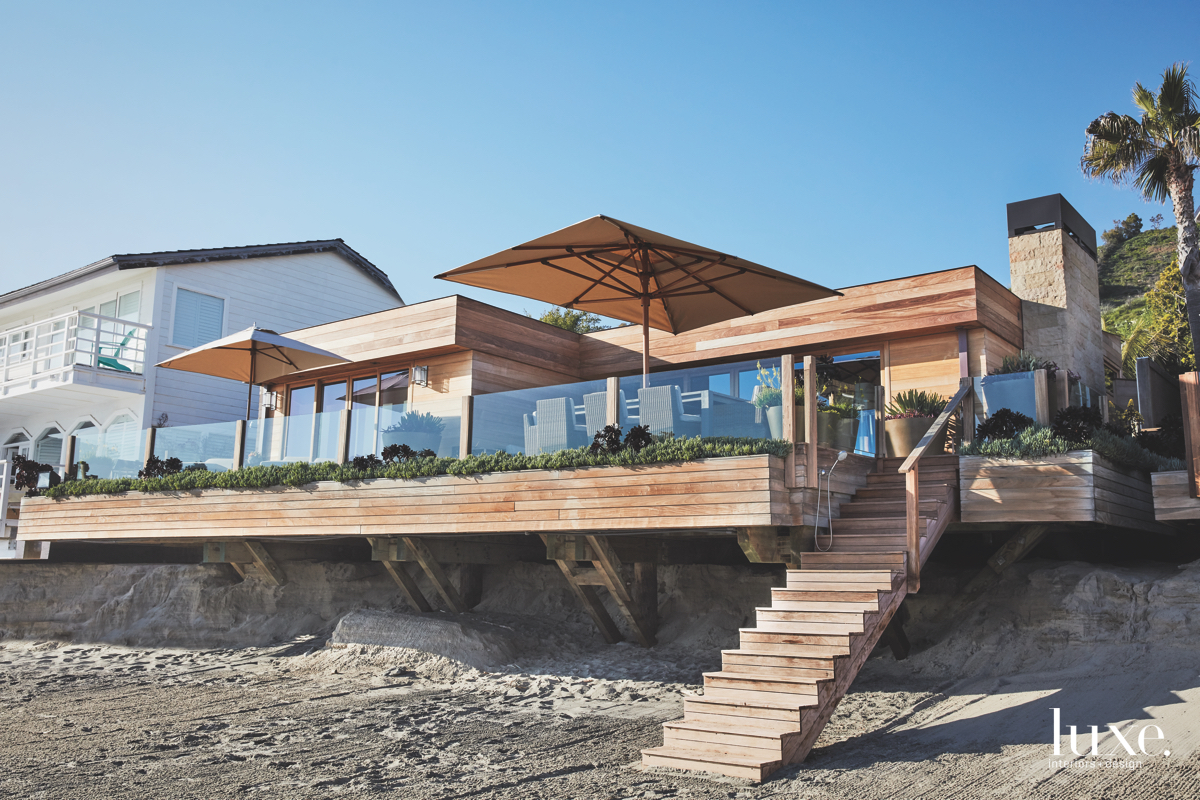 In Malibu, an abode combines...