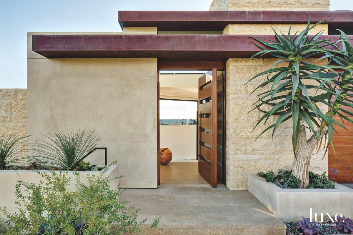 contemporary exterior entry neutral front...