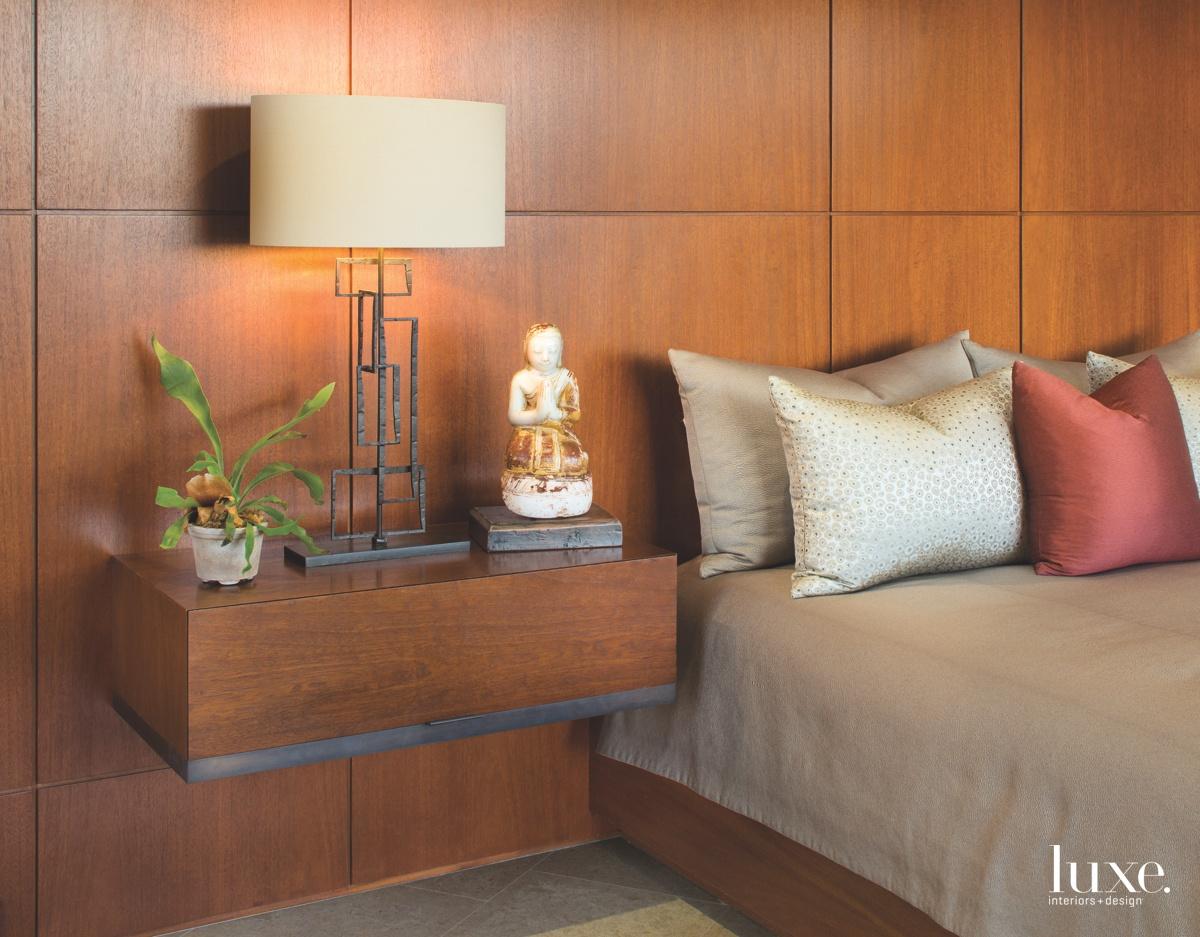 contemporary brown bedroom mahogany