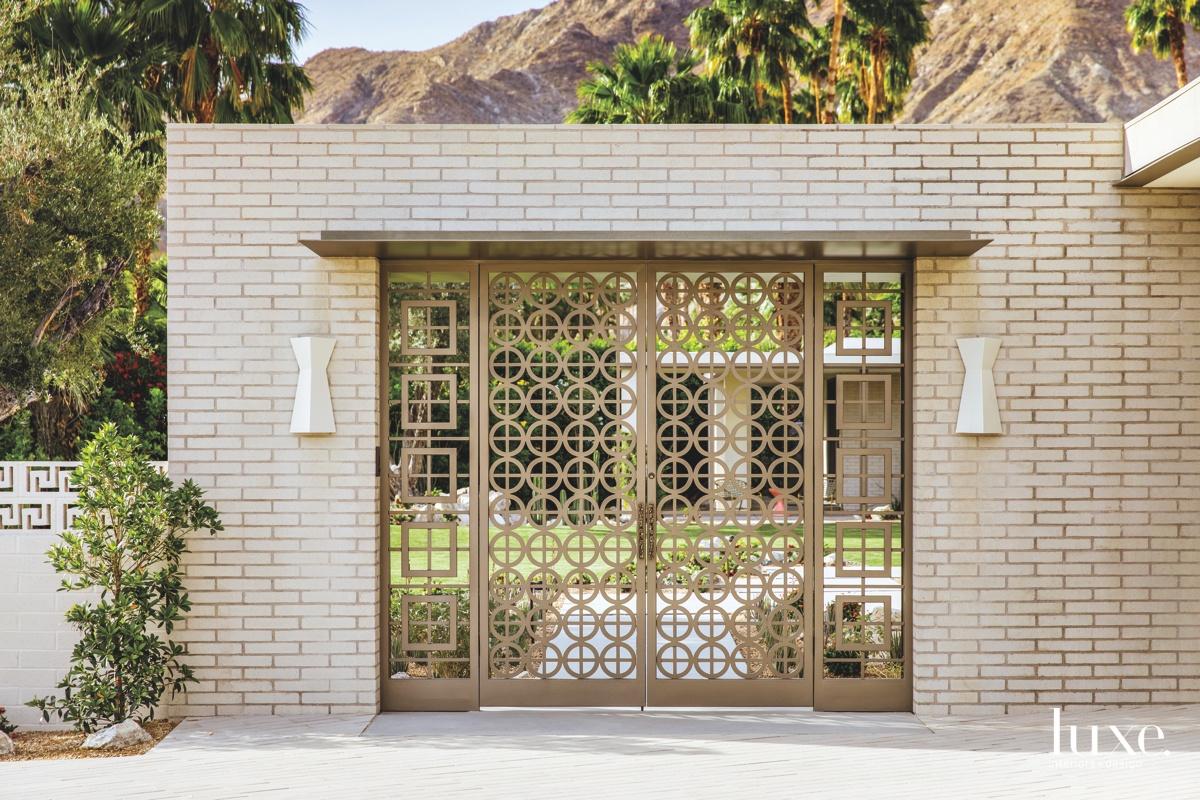 mid-century modern neutral entry gates