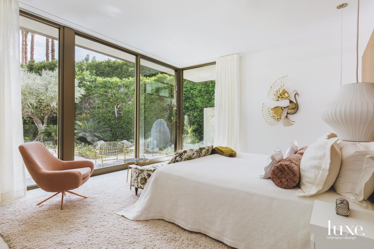 mid-century modern white bedroom white...