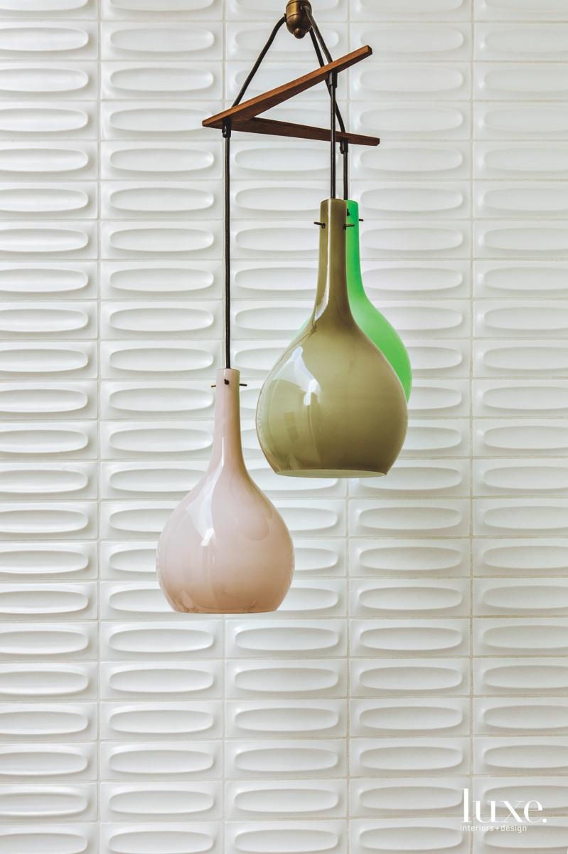 mid-century modern bathroom pendants white...