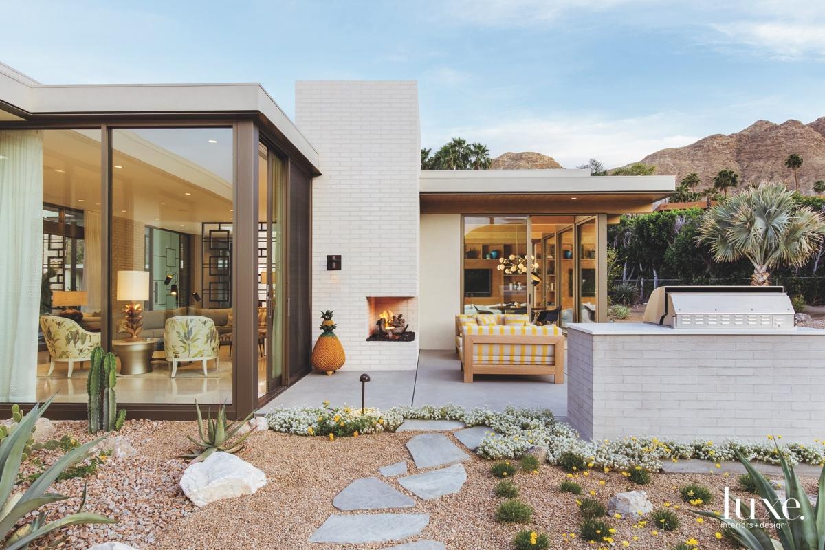 mid-century modern exterior outdoor sitting...