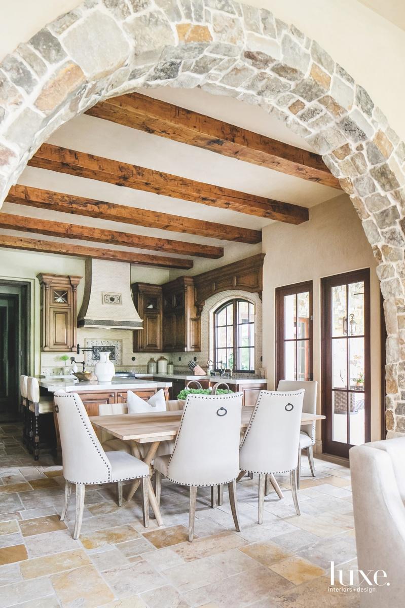 mediterranean dining area kitchen neutral