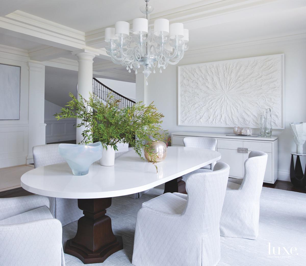 mediterranean dining room white